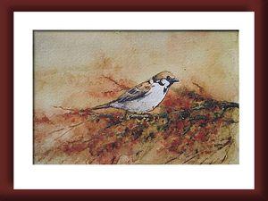 aquarelle oiseau